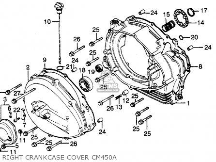 Honda Cm450a Hondamatic 1982 Usa parts list partsmanual