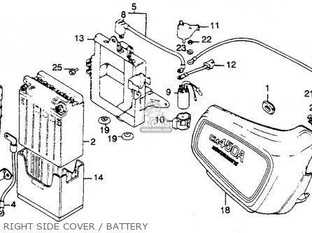 Honda Cm450c 1982 Custom Usa parts list partsmanual partsfiche
