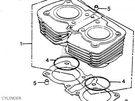 Honda Cm450e 1982 (c) Usa parts list partsmanual partsfiche