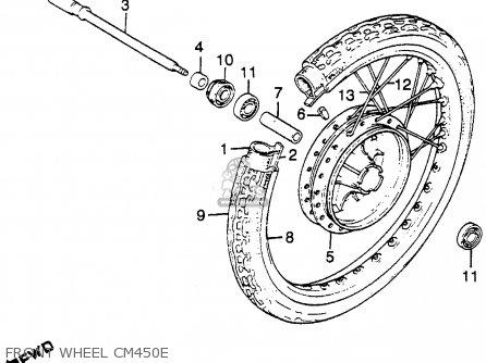 Honda Cm450e 1982 (c) Usa parts list partsmanual partsfiche
