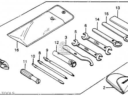 Honda CM450E 1982 (C) USA parts lists and schematics