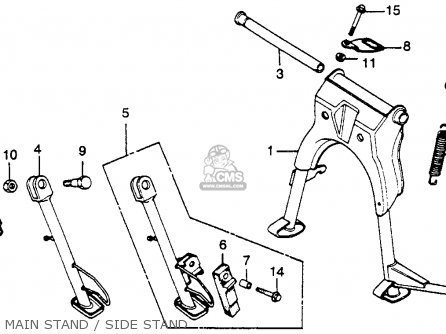 Honda Cm450e 1983 (d) Usa parts list partsmanual partsfiche