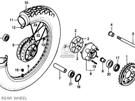 Honda Cmx250c Rebel 1985 (f) Usa California parts list