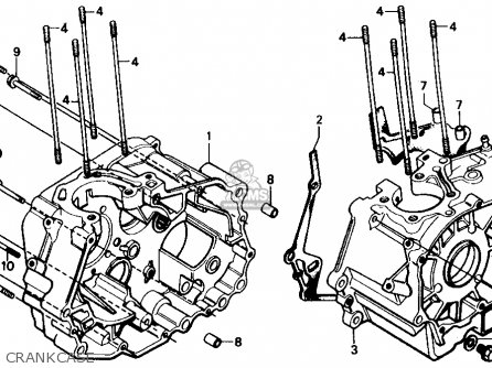 Honda Cmx250c Rebel 1987 (h) Usa California parts list