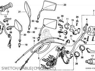 Honda CMX250C REBEL 1996 (T) AUSTRIA / KPH parts lists and