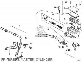 Honda Cmx250c Rebel 1999 (x) France parts list partsmanual