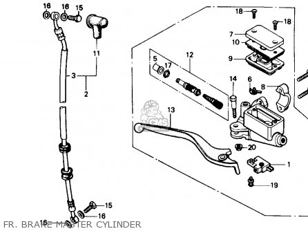 Honda Cmx250cd Rebelltd 1986 (g) Usa California parts list