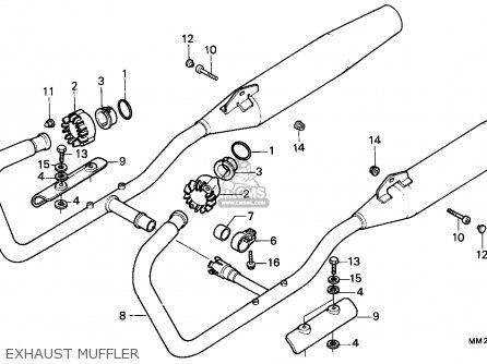 Honda Cmx450c Rebel 1986 Canada / Mkh parts list