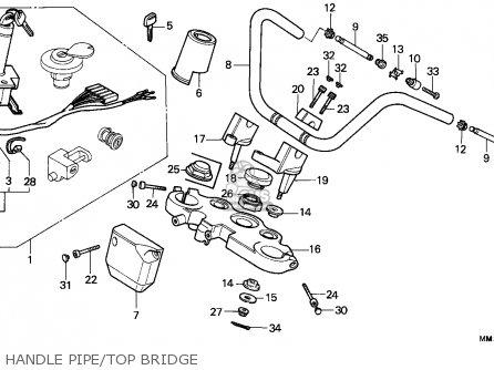 Honda Cmx450c Rebel 1986 (g) Canada / Mkh parts list