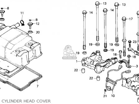 Honda Cmx450c Rebel 1986 (g) Usa California parts list