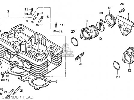 Honda Cmx450c Rebel 1987 (h) Italy / Kph parts list