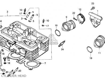 Honda Cmx450c Rebel 450 1986 Usa parts list partsmanual