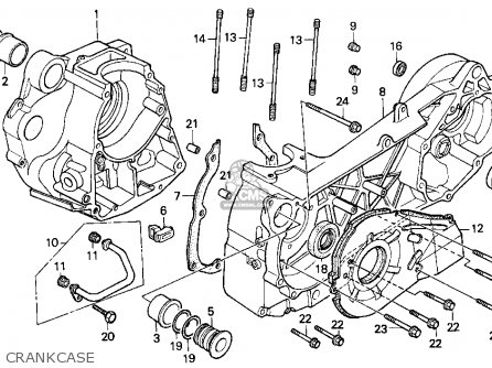 Honda Cn250 Helix 1986 (g) Usa parts list partsmanual