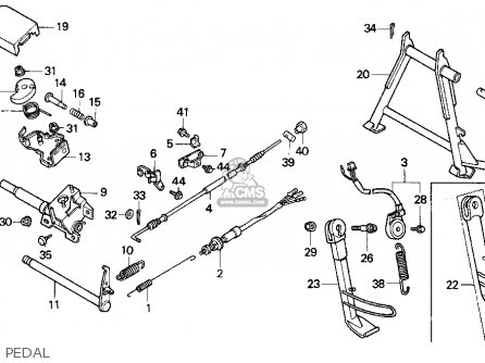 Honda CN250 HELIX 1986 (G) USA parts lists and schematics