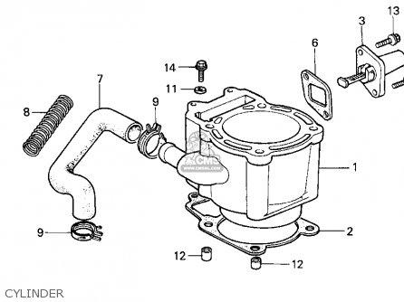 Honda Cn250 Helix 1986 Usa parts list partsmanual partsfiche
