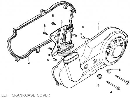 Honda CN250 HELIX 1987 (H) USA parts lists and schematics
