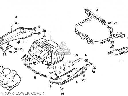 Honda Cn250 Helix 1987 (h) Usa parts list partsmanual