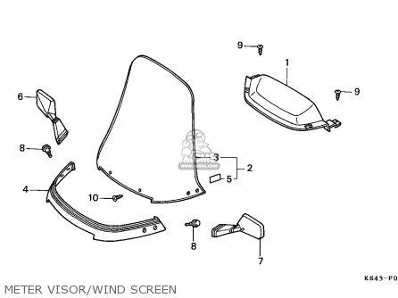 Honda Cn250 Helix 1990 (l) England Mph parts list