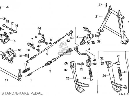 Honda Cn250 Helix 1991 (m) Italy Kph parts list