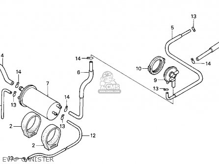 Honda CN250 HELIX 1993 (P) USA parts lists and schematics
