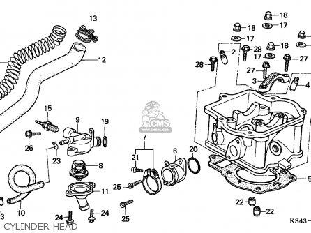 Honda Cn250 Helix 1994 France / Kph parts list partsmanual
