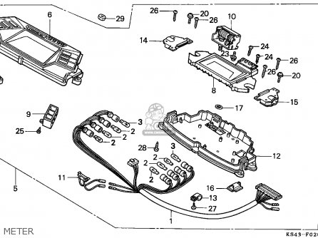 Honda Cn250 Helix 1994 (r) France Kph parts list