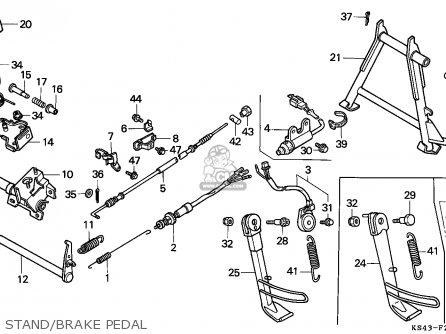 Honda CN250 HELIX 1995 (S) ITALY KPH parts lists and
