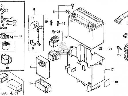 Honda Cn250 Helix 1996 Usa parts list partsmanual partsfiche