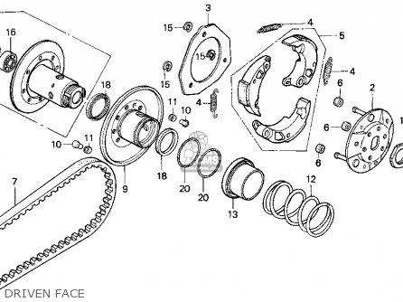 Honda CN250 HELIX 1997 (V) USA parts lists and schematics