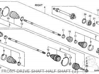 Honda Cr V Half Shaft Diagrams, Honda, Free Engine Image
