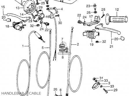 Honda Cr125m Elsinore 1974 K0 Usa parts list partsmanual