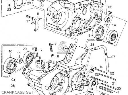 Honda Cr125m Elsinore K0 1974 Usa parts list partsmanual
