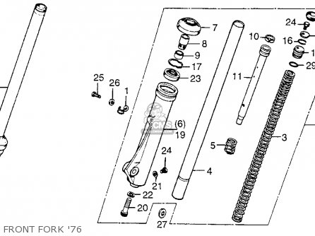 Honda CR125M2 ELSINORE 1976 USA parts lists and schematics