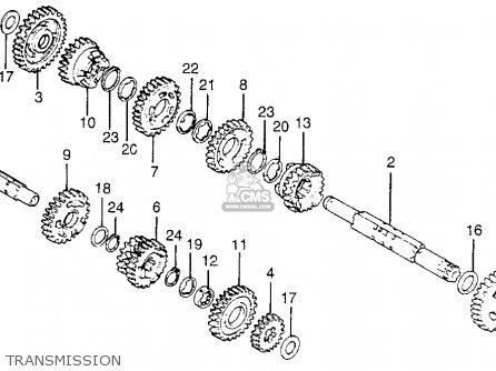 Honda Cr125m3 Elsinore 1977 Usa parts list partsmanual