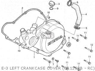Honda CR125R 1981 (B) parts lists and schematics