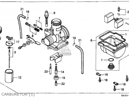 Honda Cr125r 1984 Australia / Cmf parts list partsmanual