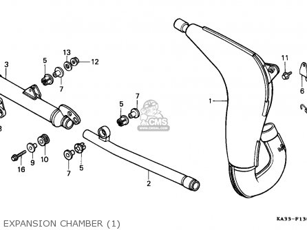 Honda CR125R 1984 (E) CANADA / CMF parts lists and schematics