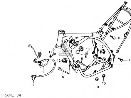 Honda Cr125r 1984 (e) Usa parts list partsmanual partsfiche