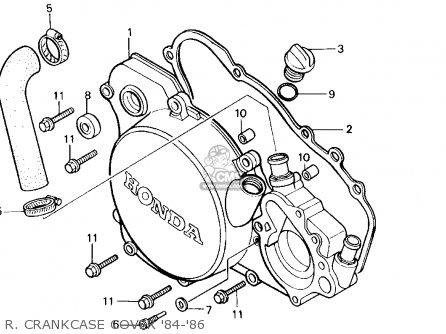 Honda Cr125r 1984 (e) Usa parts list partsmanual partsfiche