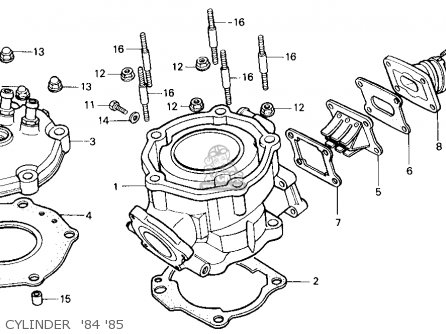 Honda Cr125r 1985 (f) Usa parts list partsmanual partsfiche