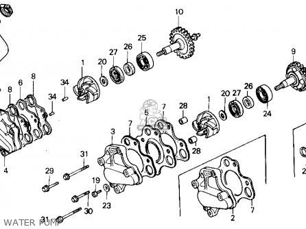 Honda Cr125r 1985 (f) Usa parts list partsmanual partsfiche