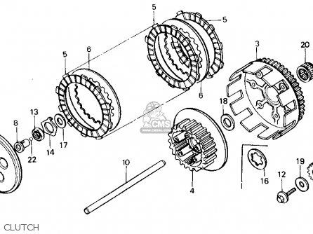 Honda Cr125r 1985 Usa parts list partsmanual partsfiche