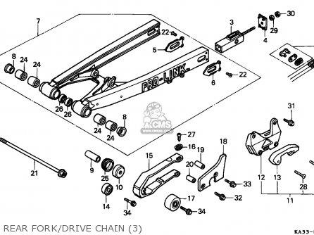 Honda CR125R 1986 (G) AUSTRALIA parts lists and schematics