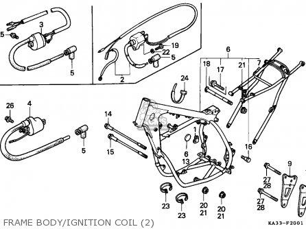 Honda CR125R 1986 (G) EUROPEAN DIRECT SALES / CMF parts
