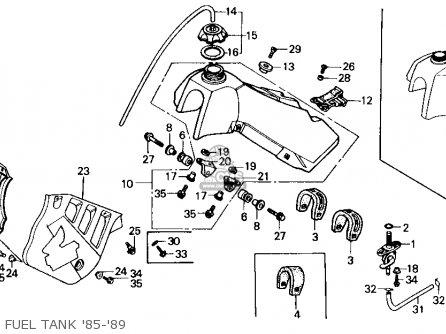 Honda Cr125r 1986 (g) Usa parts list partsmanual partsfiche