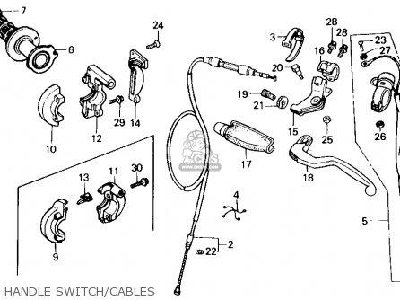 Honda CR125R 1986 (G) USA parts lists and schematics