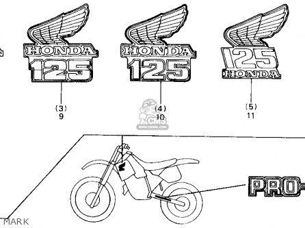 Honda CR125R 1986 (G) USA parts lists and schematics