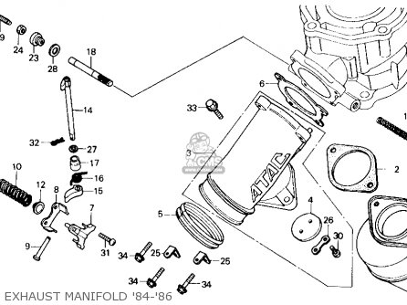 Honda Cr125r 1986 Usa parts list partsmanual partsfiche