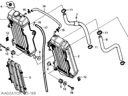 Honda Cr125r 1986 Usa parts list partsmanual partsfiche