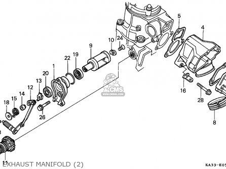 Honda Cr125r 1987 European Direct Sales / Cmf parts list